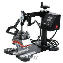 1000W Digital Swing-away T-shirt Mug Hat Heat Press Transfer Machine DIY 110V