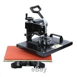 10In1 Heat Press Machine Digital Transfer Sublimation T-Shirt Hat Plate Cap