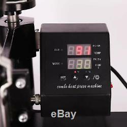 12X10 360°Swing Away Heat Press Machine Digital Transfer For T-Shirt 600W