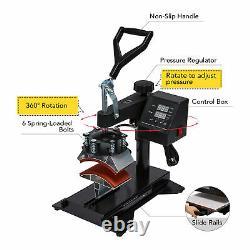 12X10 5 in 1 Combo Digital Heat Press Machine For T-Shirt Mug Hat Printer DIY