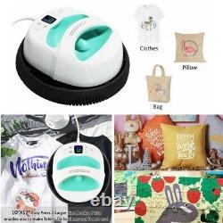 12×10 Heat Press Machine Heat Shoe T-shirt Printer DIY Print Mug Clothes NEW