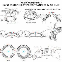 12×10 Portable T-Shirt Heat Press Machine Heat Press Mat Sublimation Printer