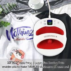 12×10 Portable T-Shirt Heat Press Machine Mat Sublimation Printer