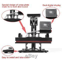 12 X 10 Flat Heat Press Machine T-Shirt Photo Transfer Swing Away Sublimation