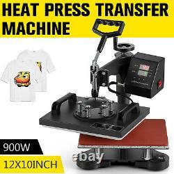 12x10 Digital Heat Press Machine Sublimation T-shirt Printing SWING AWAY