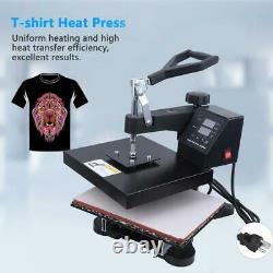 12x10 Heat Press Machine Heat Transfer Sublimation T-Shirt Clothes Printer US