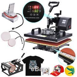 12x15 5 in 1 Digital Sublimation T-shirt Mug Plate Caps Heat Press Machine US
