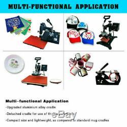 12x15 5in1 Combo Heat Press Transfer Machine T-shirt Sublimation Swing Away US