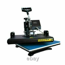 12x15 5in1 Heat Press Machine + 110Pcs Sublimation Paper Swing Away T-shirt US