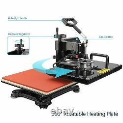 12x15 5in 1 Heat Press Machine Digital Transfer Sublimation T-Shirt Mug Hat US