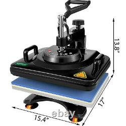 12x15 Heat Press 5 in 1 Machine Dual-tube Heating Sublimation T-shirt Plate