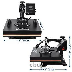 1515 Digital 8 In 1 Heat Press Machine Transfer Sublimation Plate With T-Shirt