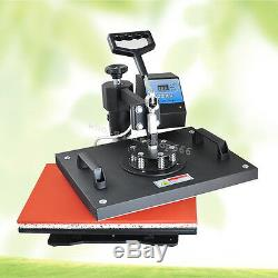15X11.4 8IN1 T-Shirt Heat Press Machine Transfer SUBLIMATION CAP SWING AWAY