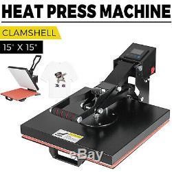 15X15 Digital Clamshell T-shirt Heat Press Machine Sublimation Transfer DIY
