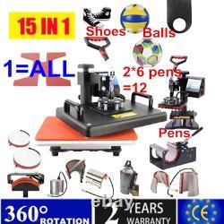 15 In 1 Combo Multifunctional Sublimation Heat Press Machine T-shirt Heat Print