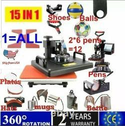 15 In 1 Combo Muntifunctional Sublimation Heat Press Machine T shirt Heat