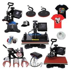 15 x 12 8 In 1 Heat Press Transfer Sublimation Machine T-Shirt Mug Plate Hat
