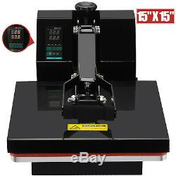 15 x 15 Digital Clamshell Heat Press Transfer Machine Sublimation T-shirt