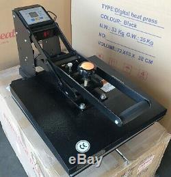 15 x 15 Digital Clamshell Sublimation Heat Press Transfer T Shirt Machine REF A