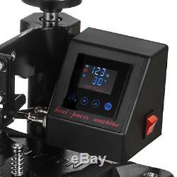 15x12 2IN1 Combo Heat Press Transfer Machine T-Shirt Cap Hat Sublimation