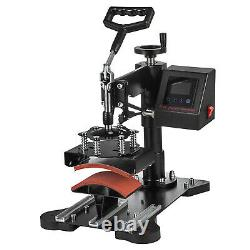 15x12 2IN1 Heat Press Machine Combo Digital Transfer T-Shirt Cap Hat LCD