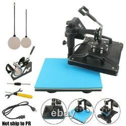 15x12 5in1 Heat Press Machine Digital Transfer Sublimation T-Shirt Mug Hat US