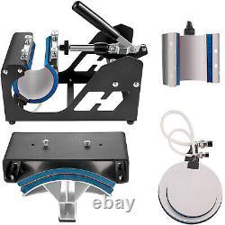 15x15T-Shirt Heat Press Transfer 6IN1 Combo Multifunctional Mug Plate Cap