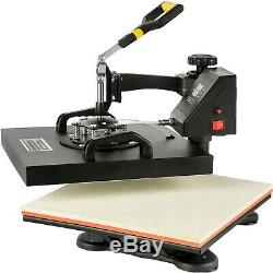15x15 5IN1 Combo T-Shirt Heat Press Machine Clamshell Swing Away T-Shirt
