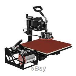 15x15 5IN1 Combo T-Shirt Heat Press Machine Pressing Clamshell Press HOT