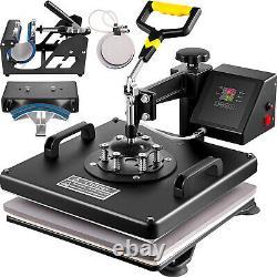15x15 5IN1 Combo T-Shirt Heat Press Transfer 1100W Swing Away Digital ON SALE