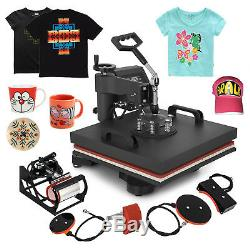 15x15 5IN1 Combo T-Shirt Heat Press Transfer Digital Clamshell Swing Away