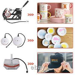 15x15 5 in 1 Heat Press Machine Digital Transfer Sublimation T-Shirt Mug Hat u