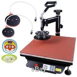 15x15 8in1 Heat Press Machine Digital Transfer Sublimation T-Shirt Mug Cap Print