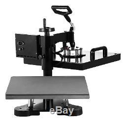 15x15 8in1 Heat Press Machine Transfer Sublimation T-Shirt Mug Hat Swing Away
