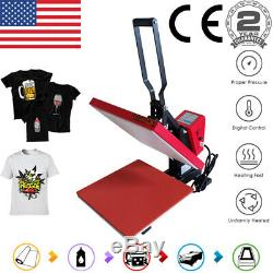 15x15 Digital Clamshell Heat Press Machine Sublimation Transfer DIY T-Shirt US