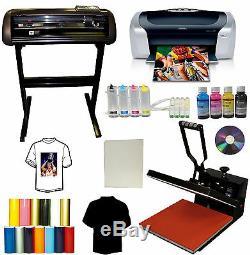 15x15 Heat Press, 28 METAL Vinyl Cutter Plotter, Printer, CISS, Transfer PU, Tshirts