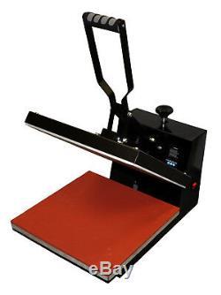 15x15 Heat Press, 28 Vinyl Plotter Cutter Printer Ink Kit Tshirt Startup Bundle