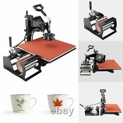 15x15 Heat Press 5 in 1 Combo T-Shirt Machine 360 Degree Digital DIY Printer