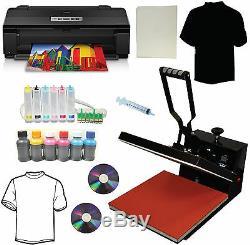 15x15 Heat Press, Large Format Printer CISS Refill Ink Heat Press Transfer Tshirt