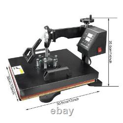 15x15 Heat Press Machine Digital Printing DIY 8 in 1 Sublimation for T-shirt