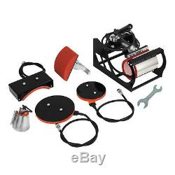 15x15 Heat Press Transfer 6IN1 T-Shirt Combo Machine Swing Away Mug Plate
