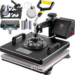 15x15 T-Shirt Heat Press Transfer 6IN1 Combo 38x38cm Clamshell Machine GREAT