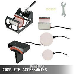 15x15 T-Shirt Heat Press Transfer 6IN1 Combo Pressing Sublimation Digital
