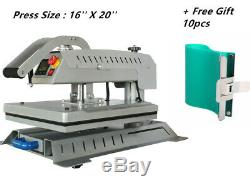 16''x20'' T-shirt Heat Press Machine Swing Away Digital Magnetic Semi-Auto +Gift