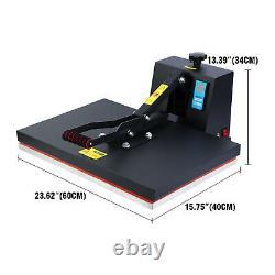 16x24 1500W Digital Clamshell Heat Press Transfer T-Shirt Sublimation Machine