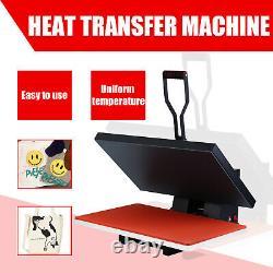16x24 Heat Press Machine Clamshell Sublimation Transfer T-Shirt Printer Good