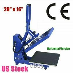 20 x 16 110V Auto Open T-shirt Heat Press Machine Horizontal Version US