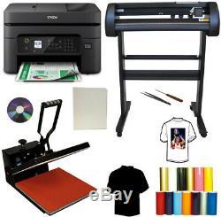 28 500g Laser METAL Vinyl Cutter Plotter 15x15 Heat Press, Wireles Printer Tshirt