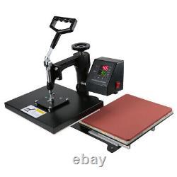 2 in 1 Heat Press Machine Swing Away Digital Sublimation T-Shirt 110V 750W