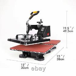 30X38 12X15 Double Station Sublimation Transfer Heat Press Machine For T-Shirt